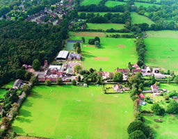 aerial view of Copthorne School